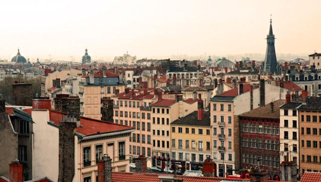 Vista do Bairro Croix Rousse em Lyon