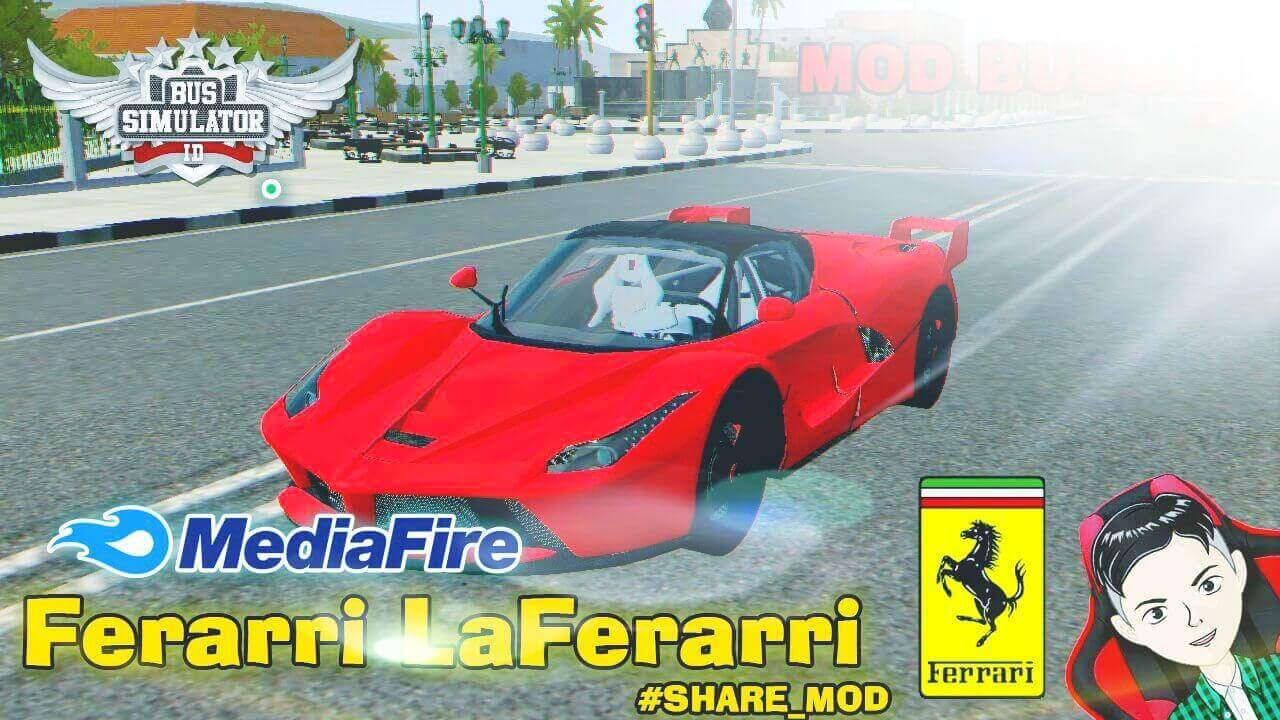 Mod Bussid 2015 Ferrari LaFerrari Supercar