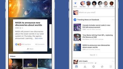 فيس بوك تعيد تصميم المواضيع الرائجة لتسهيل العثور عليها
