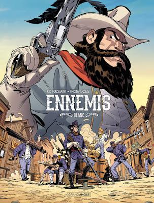 couverture de la BD Ennemis tome 2 - Blanc aux édition Grand Angle