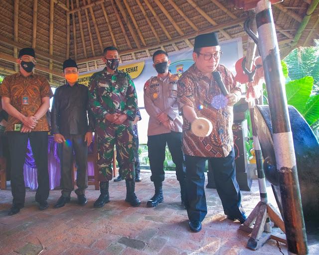 Polres Lombok Tengah Bersama Forkopimda, Lounching Kampung Sehat.