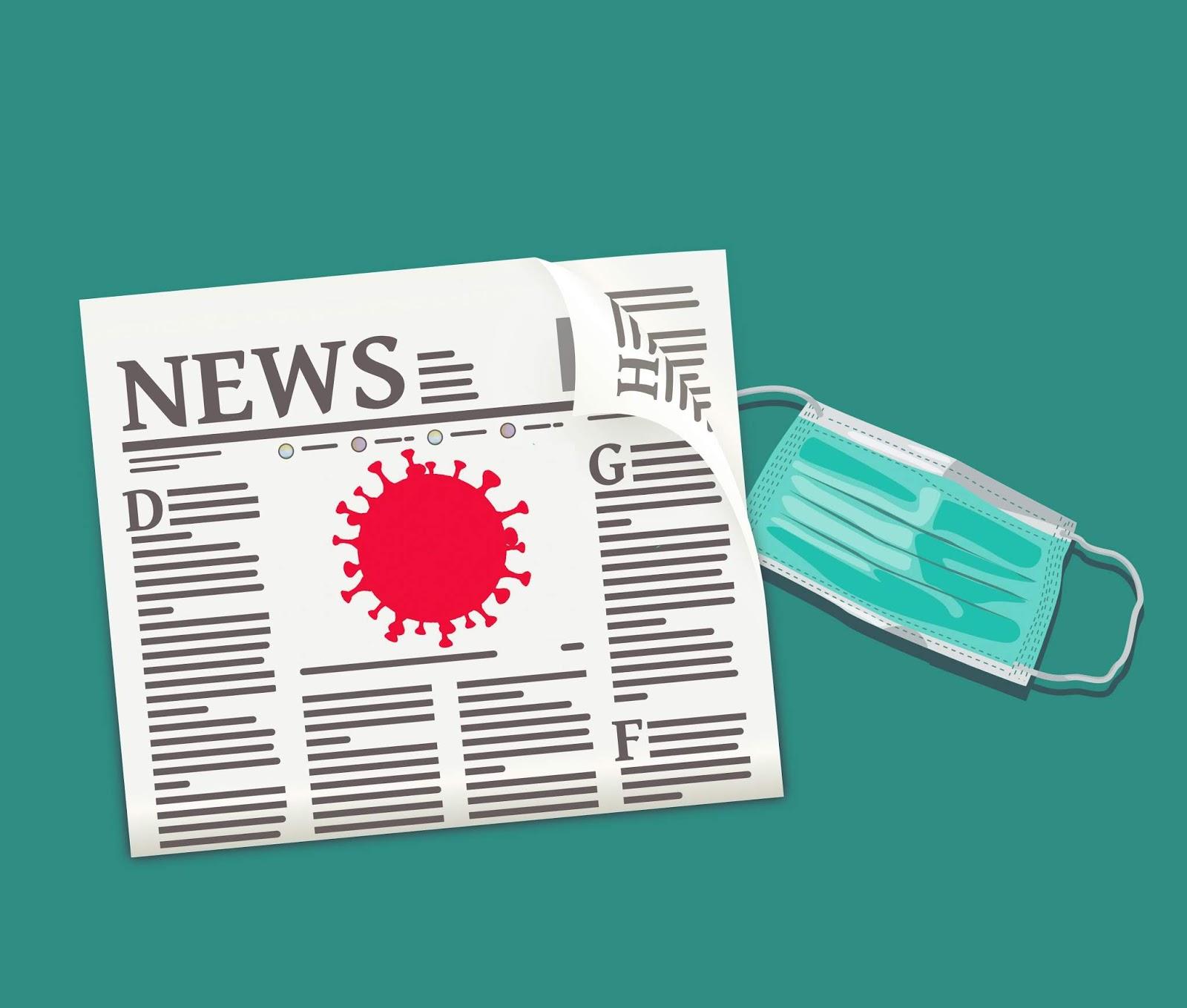 Illustration of corona virus news