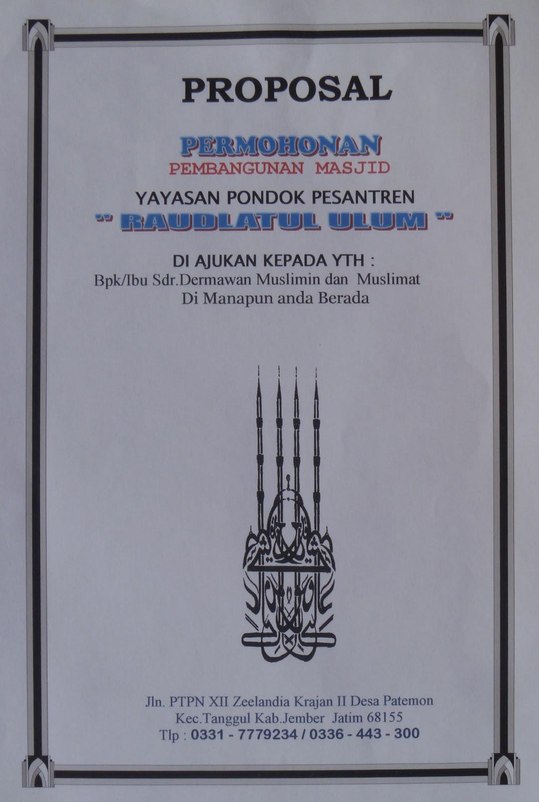 Contoh Contoh Program Pembangunan Ekonomi Contoh Tesis Ukm << Contoh Tesis 2015 Beserta Foto Masjid Raudlatul Ulum