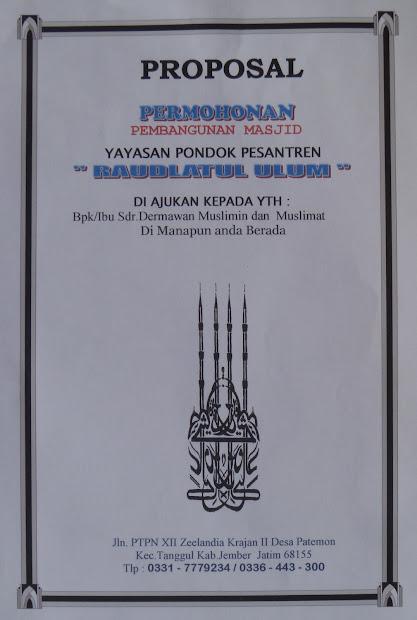 Masjid pembangunan pdf proposal contoh