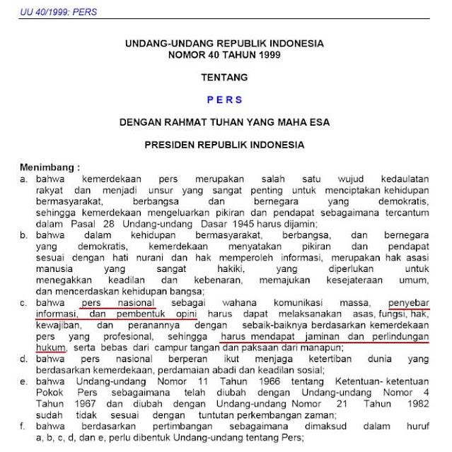 Informasi False Flag Operation: UU penggiringan opini publik oleh PERS Nasional