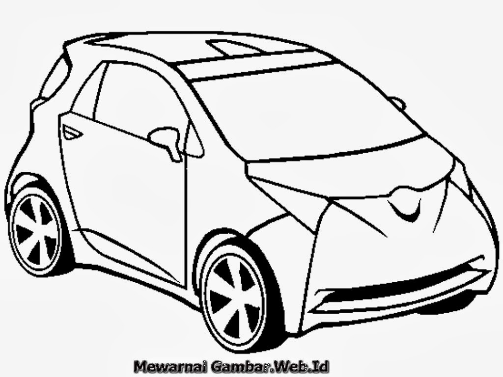 Mewarnai Gambar Mobil Toyota  Mewarnai Gambar