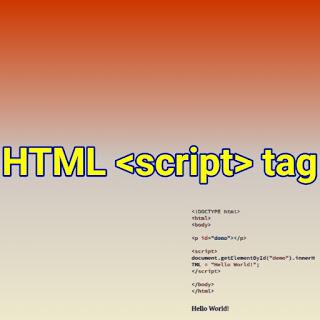 HTML <script> tag