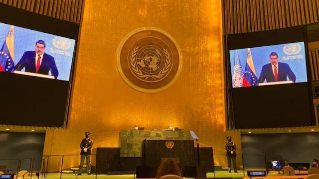 MADURO PIDIÓ APOYO DE LA ONU PARA LOGRAR AVANCES EN EL DIÁLOGO
