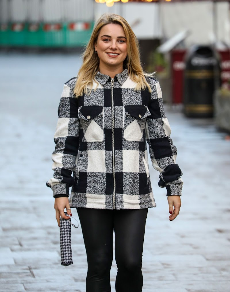 Siân Welby Spotted At Global Radio Studios in London 14 Dec-2020