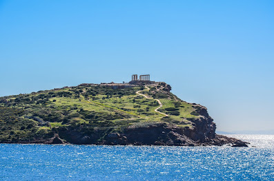 The Temple of Poseidon at Cape Sounion in Greece