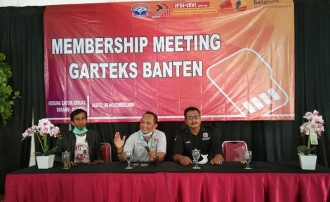 Penguatan Organisasi, Garteks Banten Gelar Membership Meeting 2020
