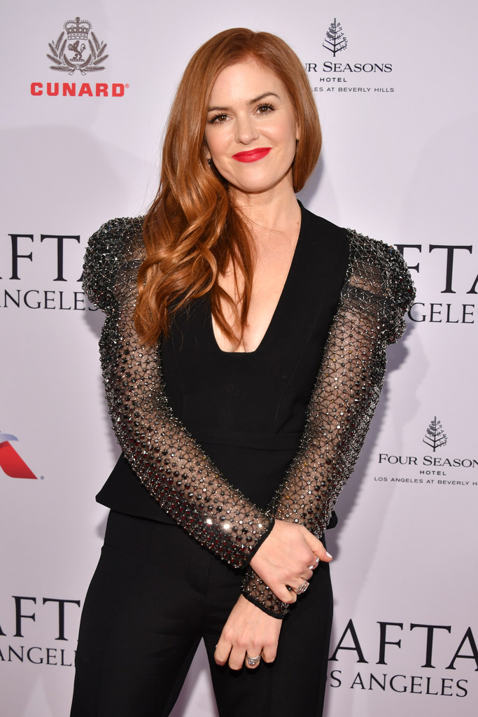 Isla Fisher photographed by Amy Sussman today at the Four Seasons Hotel in Beverly Hills