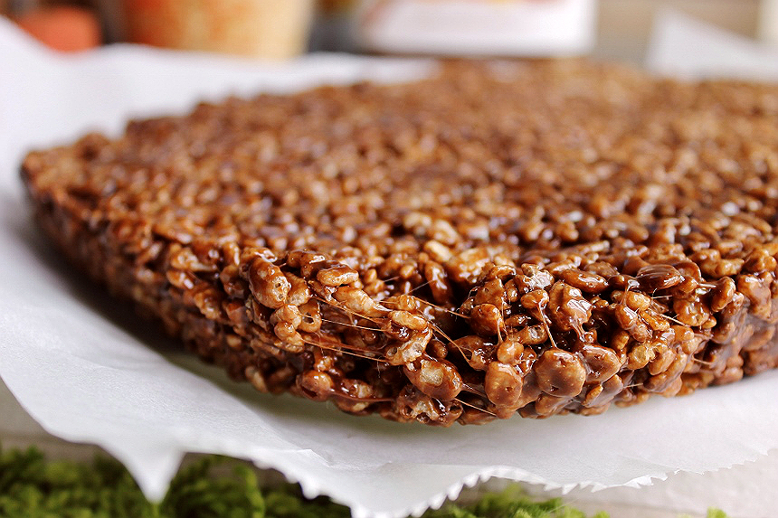 Nutella Crisped Cereal Bars Recipe