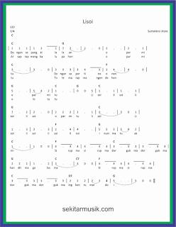 not angka lisoi lagu daerah sumatera utara
