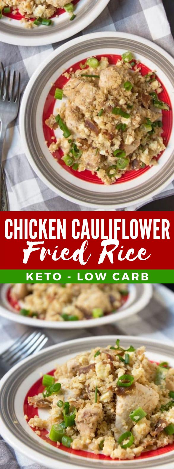 Keto Chicken Cauliflower Fried Rice #diet #healthy