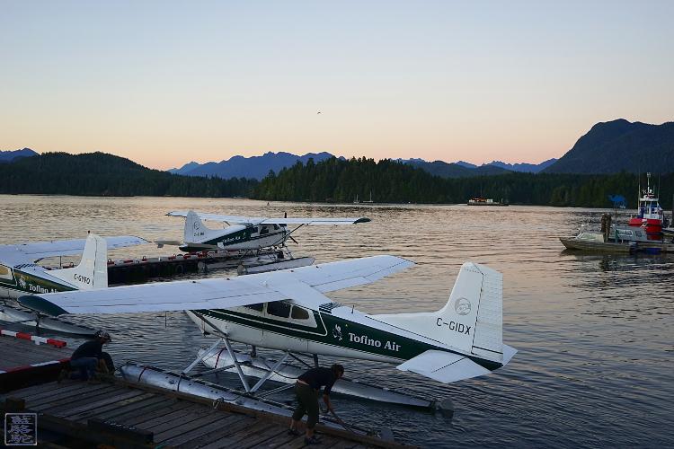 Le Chameau Bleu - Air Tofino - Hydravion depuis la baie de Tofino Canada