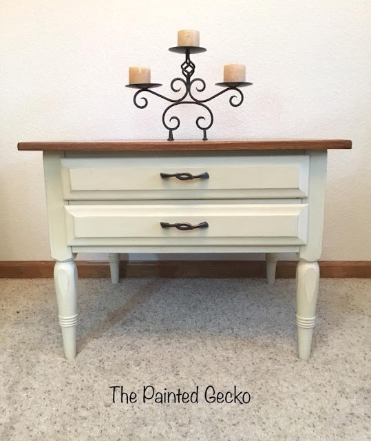 painted little accent table