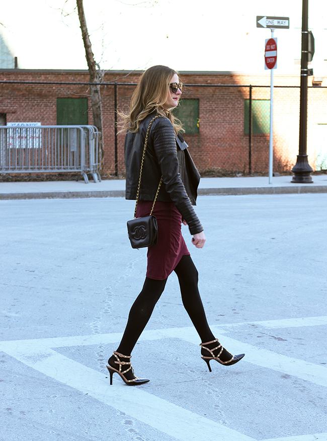 Date night outfit #datenight #leatherjacket