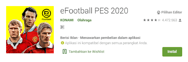 Download PES mobile terbaru