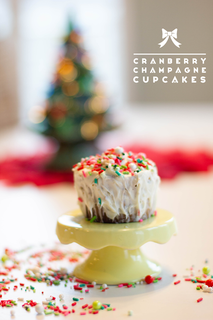 Cranberry Champagne Cupcakes are perfect for celebrating life's big events: Christmas, New Years, Weddings and Special Birthdays!