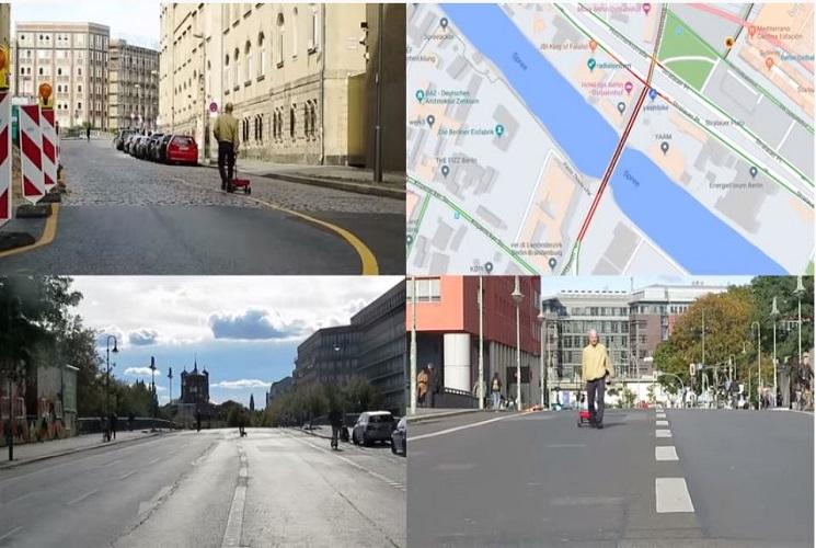 Artist fakes Google Maps traffic jam with 99 smartphones