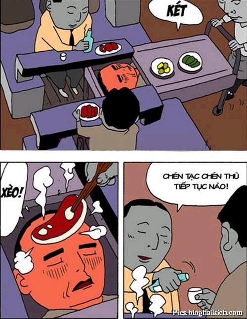 Tranh vui sử dụng nhiệt độ sốt để nướng thức ăn