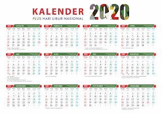 Template Kalender Jawa 2020