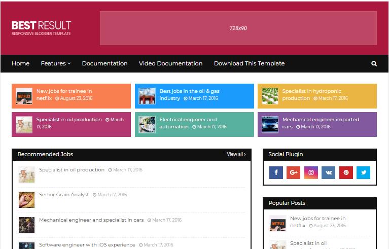 Best result blogger theme download