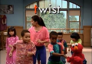 Celina teaches Elmo and the kids how to do the T Dance. Sesame Street Do the Alphabet