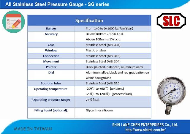 欣聯承-壓力表-pressure gauge
