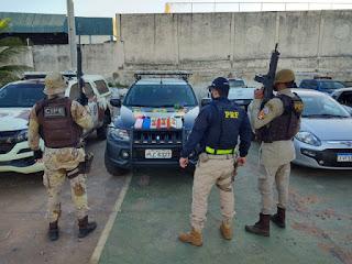 PM e PRF apreendem pasta base de cocaína avaliada em R$ 200 mil, em Brumado