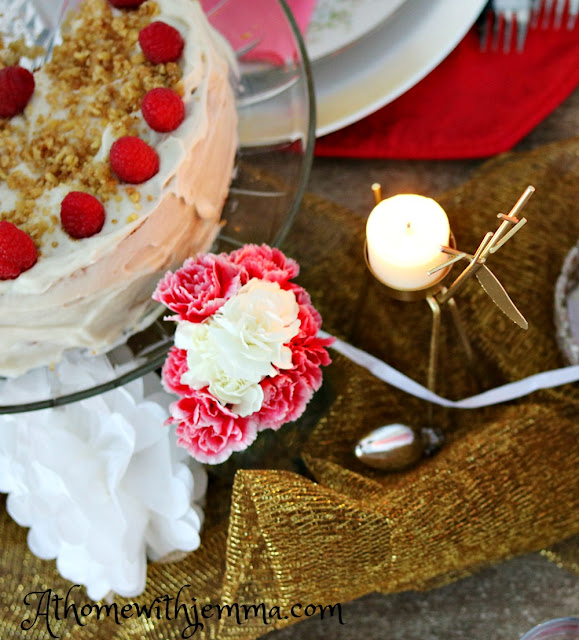 homemaking, cake, valentine, party, tablescape, homemade, decorating, athomewithjemma
