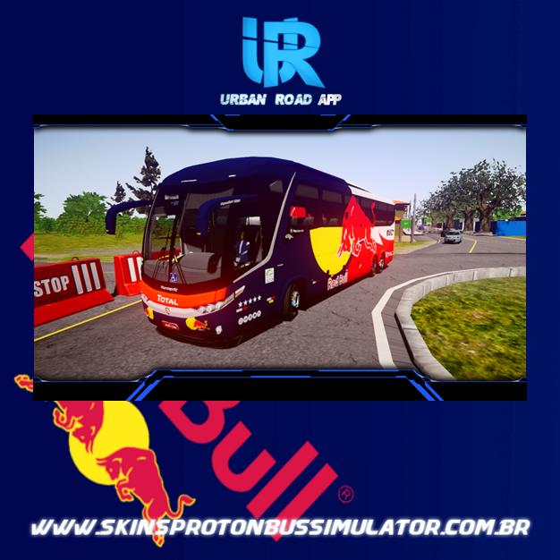 Skin Proton Bus Simulator Road - G7 1200 Volvo B380R 6x2 Red Bull Concept