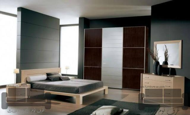 الوان غرف نوم كاملة، صور احدث غرف نوم، غرفة  نوم بني في ابيض, اجمل الوان اوض النوم, الوان غرف نوم, ديكورات غرف نوم