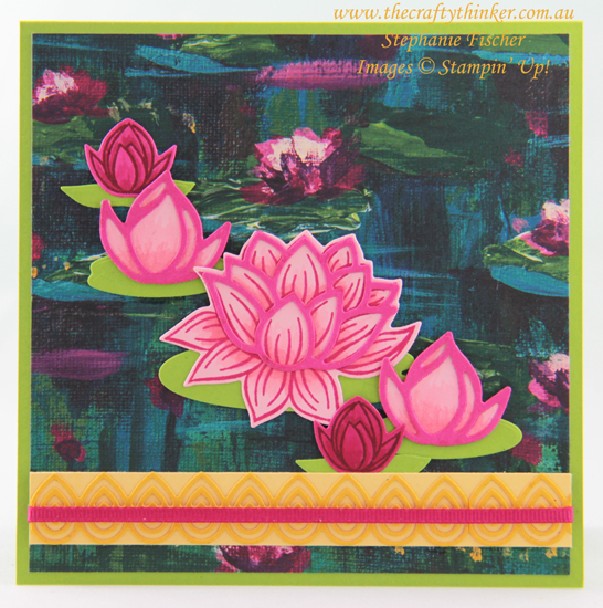 #thecraftythinker #saleabration #lovelylilypad #lilypaddies #cardmaking #stampinup , Sale-A-Bration, Lovely Lily Pad, Lily Pad Dies, Stampin' Up Demonstrator, Stephanie Fischer, Sydney NSW