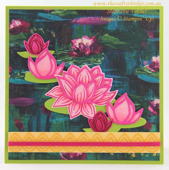 #thecraftythinker #saleabration #lovelylilypad #lilypaddies #cardmaking #stampinup , Sale-A-Bration, Lovely Lily Pad, Lily Pad Dies, Stampin' Up Demonstrator, Stephanie Fischer, Sydney NSW