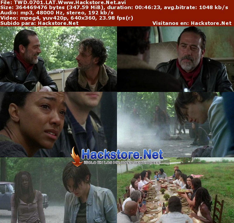 Capturas de The Walking Dead Séptima Temporada Latino