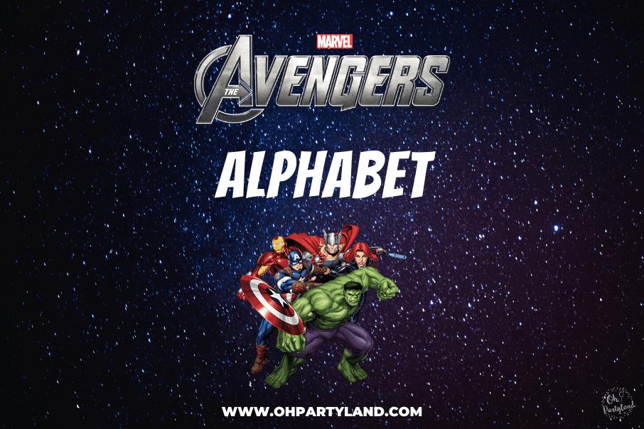 avengers alphabet