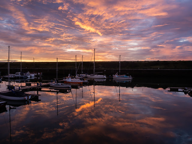 Photo of another view of Maryport Marina at sunset