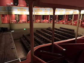 View across the theatre showing lower tier of boxes  Theatre Royal, Bury St Edmunds