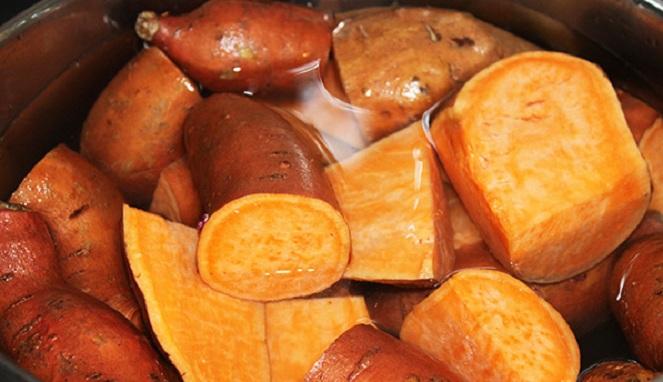 Makanan Diet pengganti nasi dengan Ubi Cilembu