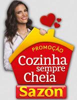 Promoção Cozinha sempre cheia Sazón www.sempresazon.com.br