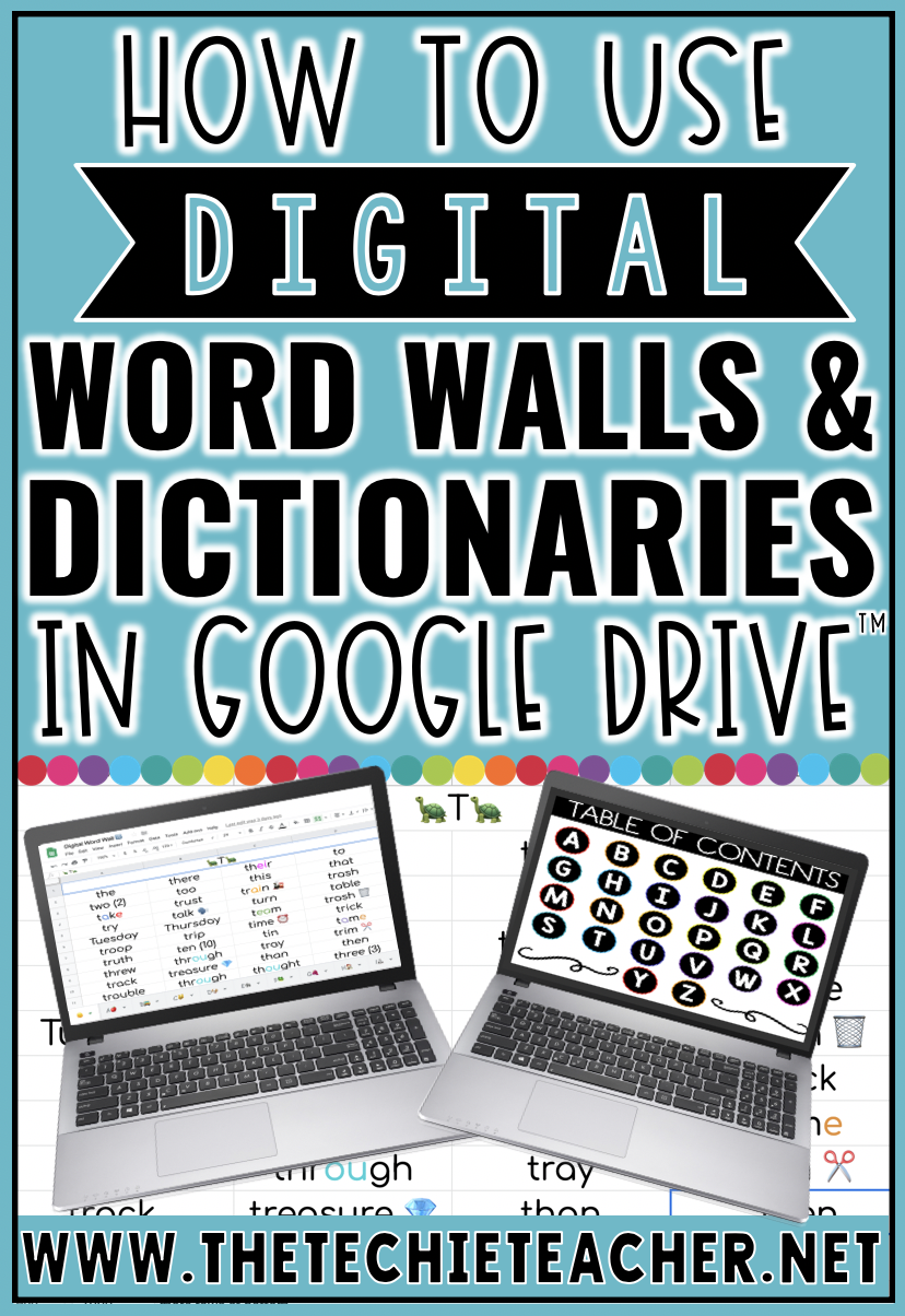 Are you looking for a way to create a digital word wall and/or digital dictionary for students to document their sight words, word study/spelling words or vocabulary words? This post will explain how you can use Google Sheets to create a digital word wall (free download included) and Google Slides for a digital dictionary.