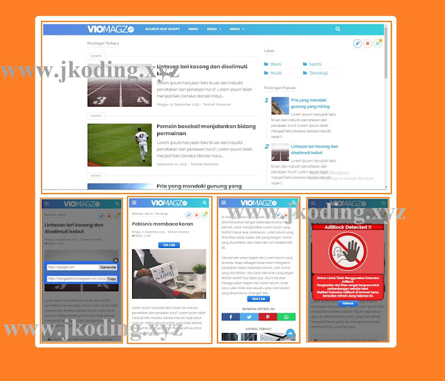 Safelink Viomagz V3.2 Fitur 2 Tombol