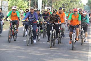 Bersepeda,  Wabup Supendi Jalin Keakraban Dengan ASN
