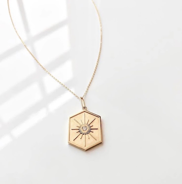 Guiding star gold necklace from Emry Boutique