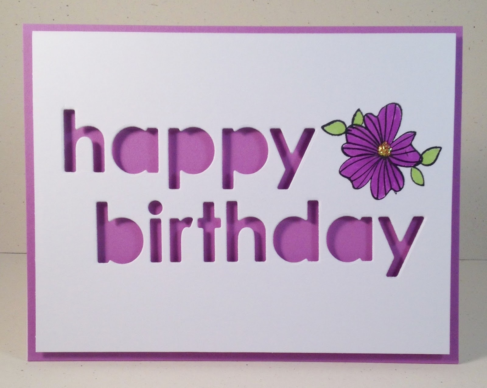 Happy dance happy birthday sandie my darling daughter cathy is the worlds greatest lover of all things purple sandie is a close second naturally i had to go with a dash of purple for her izmirmasajfo