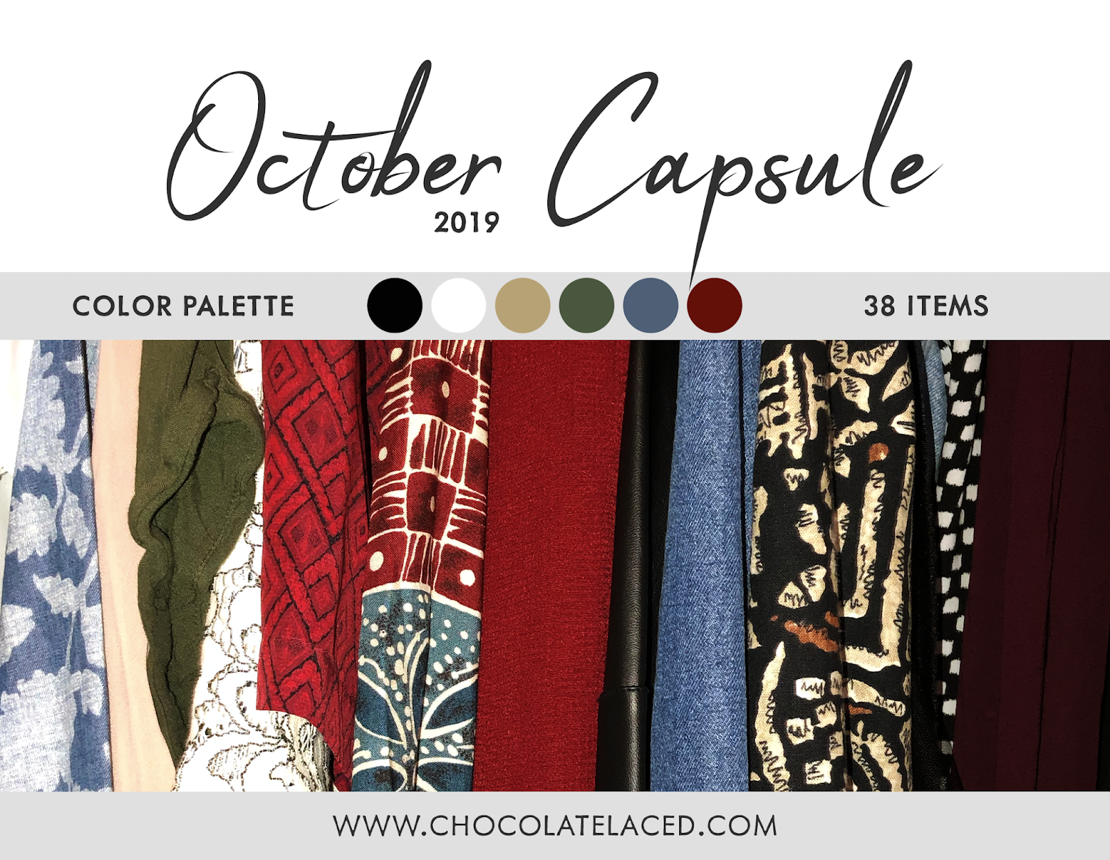 October capsule closet blog intro