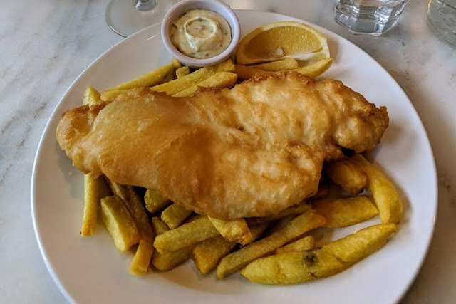 Fish and Chips at Fish Shop Dublin