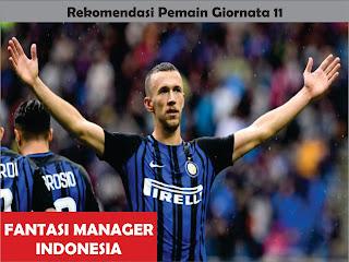 rekomendasi pemain giornata 11 liga fantasia serie a fantasi manager indonesia